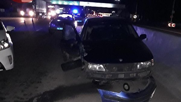 Натрассе под Киевом перевернулась маршрутка, пострадали пассажиры