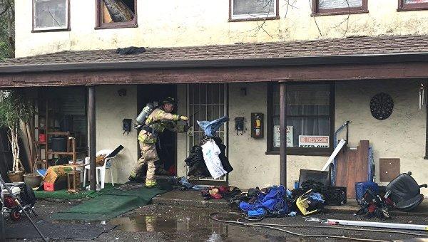 Мужчина сжег дом из-за огромного паука
