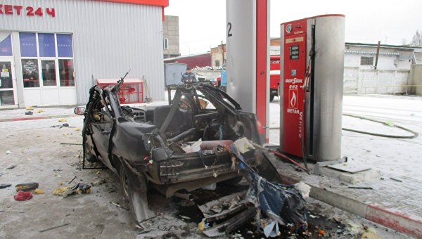 НаСумщине вовремя заправки автомобиля «Chery Amulet» произошел взрыв