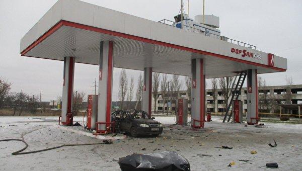 Автомобиль взорвался на АЗС в Сумской области