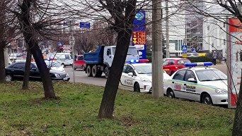 На месте взрыв в Черновцах