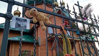 Акция националистов под храмами и церквями УПЦ МП в Луцке