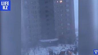 Снежная буря в Астане