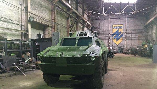 Цех киевского завода АТЕК, занятый полком Азов