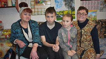 Две семьи переселенцев из Донбасса, поселившихся в Кропивницком