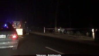Под Киевом произошло смертельное ДТП. Видео