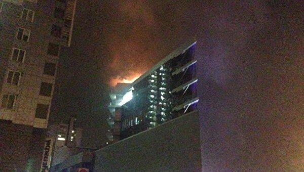 Пожар в торговом центре Киева