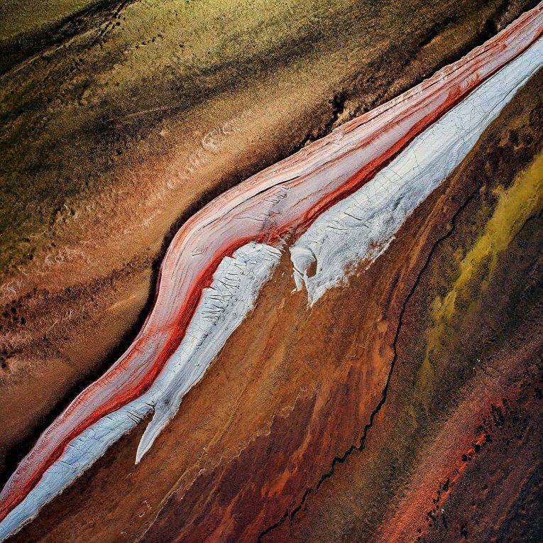 Многоцветные озера Австралии