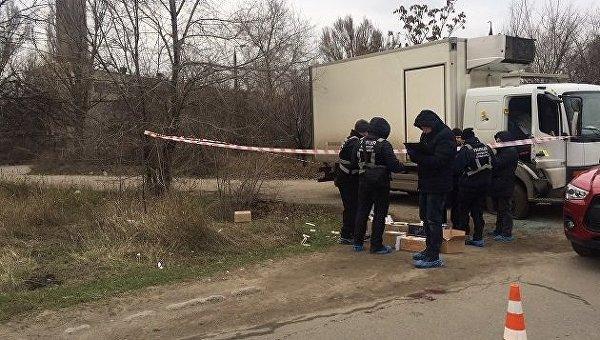 На месте расстрела бизнесмена в Запорожье