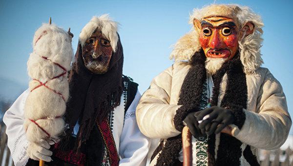Празднование народного праздника Маланки