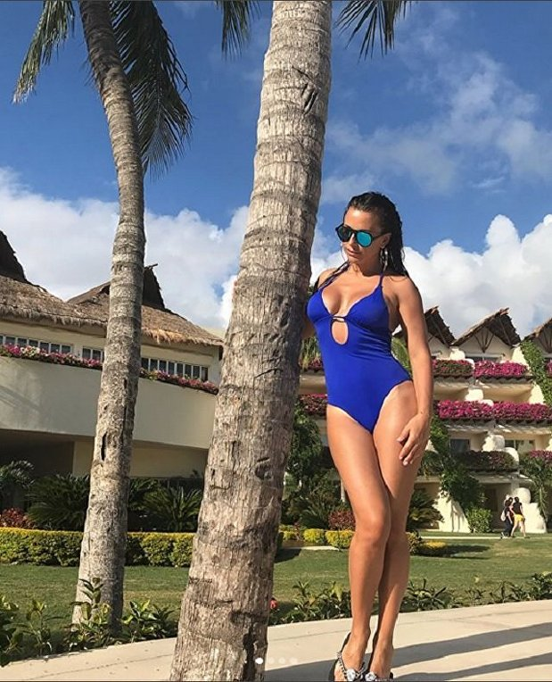 Ани Лорак на отдыхе в Мексике
