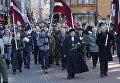 Марше легионеров ваффен-СС в Риге. Архивное фото