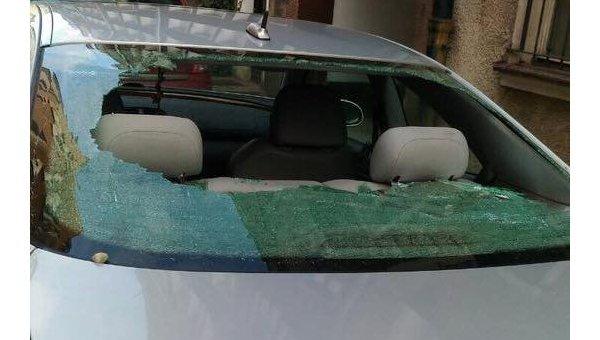 ВПольше автомобиль сроссийскими номерами забросали камнями