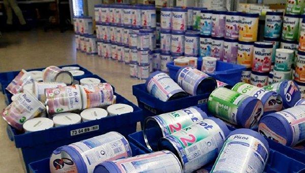 Продажа детского питания в магазине