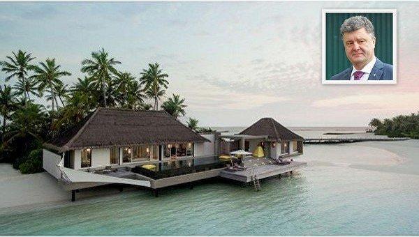 Одна из вилл на Мальдивах, где отдыхал Порошенко