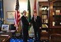 Александр Данилюк в ходе рабочего визита в США с американским коллегой Стивеном Мнучиным