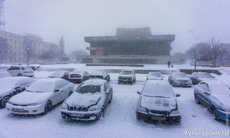 Одессу завалило снегом