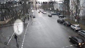 За полтора часа до убийства Ирины Ноздровской. Видео