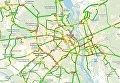 Карта дорожных событий в Киеве 17 января
