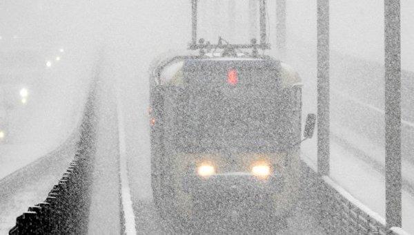 Масштабный снегопад в Киеве