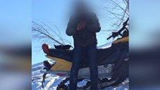 На горнолыжном курорте нетрезвый влетел в двух людей