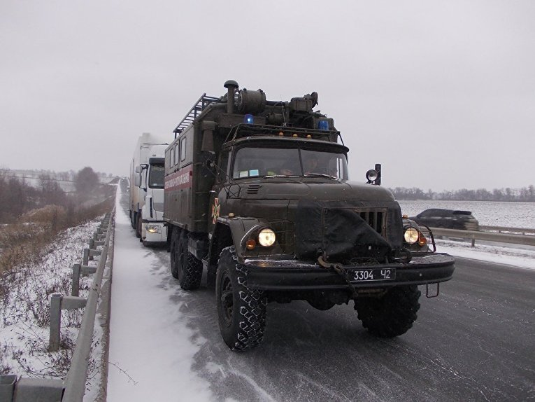 Ситуация на дорогах из-за снегопада 18 января 2018. Кировоградская область