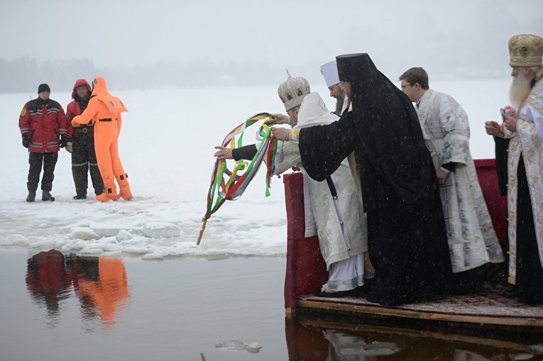 Празднование Крещения 2018 в Киеве