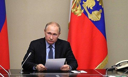 Путин на совещании с постоянными членами Совета Безопасности