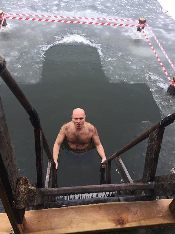 Заместитель главы Харьковского районного совета Виталий Рожанский, Крещение 19 января 2018 года