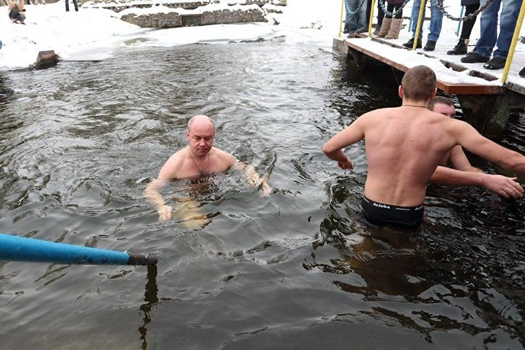Мэр Тернополя Сергей Надал, Крещение 19 января 2018 года