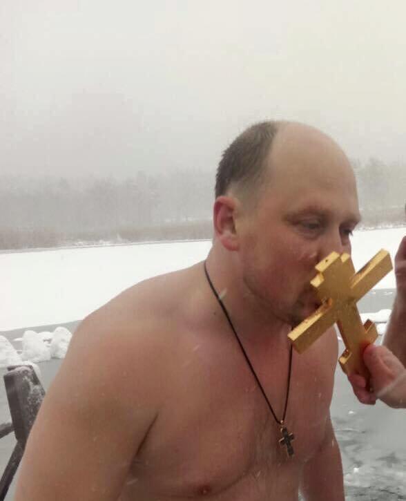 Депутат Сергей Каплин, Крещение 19 января 2018 года