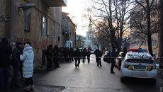 На месте стрельбы в центре Одессы, 19 января 2018