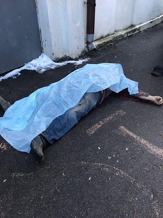 Тело мужчины, убитого при перестрелке в Одессе