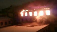 Возгорание в Военно-морском институте в Петербурге