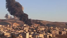 Появилось видео воздушной атаки турецких истребителей по территории Сирии