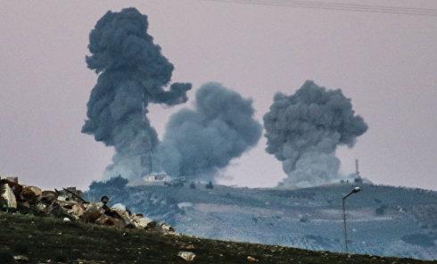 """Операция турецких ВВС""""Оливковая ветвь"""" в сирийском Африне"""