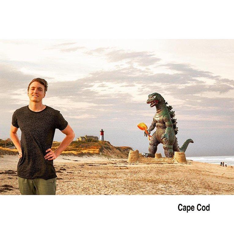 Годзилла на снимках американского фотографа Кирана Мюррея
