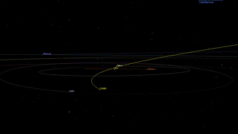 К Земле приближается астероид размером с небоскреб. Видео