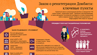 Закон о реинтеграции Донбасса: ключевые пункты