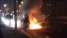 В Киеве на бульваре Шевченко сгорел Subaru