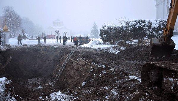 Авария на коллекторе в Прилуках, Черниговская область