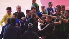 Драка болельщиков и футболиство на турнире в Ужгороде