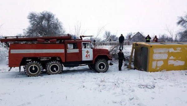 На месте аварии в Днепропетровской области