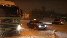 Снегопад в Днепре. Видео
