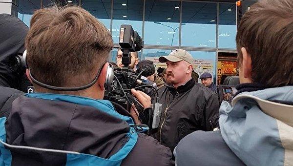 Лидер львовского отделения Правого сектора Тарас Хаммер Бобанич