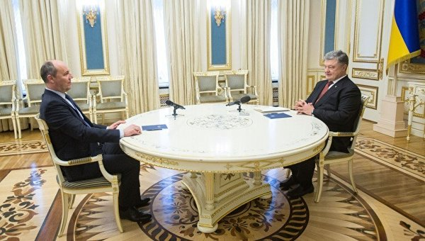 Петр Порошенко и Андрей Парубий