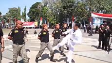 Не показывайте Кличко. В Индонезии мэр отрабатывает удары на полицейских. Видео