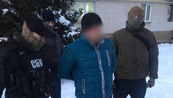 На месте задержания в Киеве