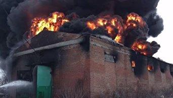 Видео пожара в Славянске.
