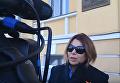 Журналист, взявшая интервью у Портнова, вышла к митингующим. Видео